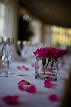 simple rose centerpieces