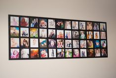 Love, love this idea! Maybe for wall by front door...    Simple supplies (all found at walmart)  This entire project was under $20. *pictures you want to use (I had free prints from Costco)  * 2 20x30 foam core boards (I got two black ones $2.88 each)  *poster hanger thingies ($2.44)  *foam brushes ($.97)  *double sided tape ($3)  *mod podge