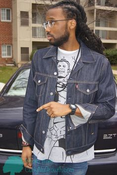 curlynugrowth.com | Because his locs are various lengths, I pulled them together with a ...