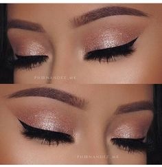 When it comes to eye make-up you need to think and then apply because eyes talk louder than words. The type of make-up that you apply on your eyes can talk loud about the type of person you really are. Cute Makeup, Prom Makeup, Pretty Makeup, Bridal Makeup, Wedding Makeup, Sweet 16 Makeup, Formal Makeup, Makeup Goals, Makeup Inspo