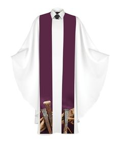 This stole is printed on poplin polyester. Altar Cloth, Good Friday, Lent, Get The Look, Poplin, Digital Prints, Kimono Top, Faith, Clothes