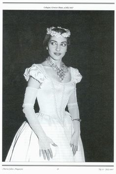 Maria callas as Amina in la sonnambula (the sleepwalker)