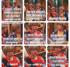 I don't watch The Suite Life of Zack and Cody but this is hilarious Disney Memes, Disney Quotes, Disney And Dreamworks, Disney Pixar, Zack Et Cody, Old Disney Shows, Sprouse Bros, Old Disney Channel, Phineas Y Ferb