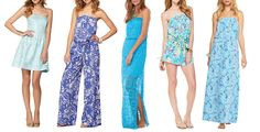 Lilly Pulitzer Looks- show your shoulders!