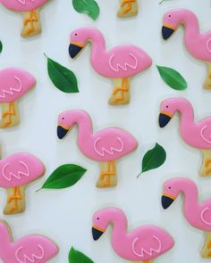 Flamingo cookies Cookie Decorating, Decorating Tips, Decorated Cookies, Cookie Monster, Flamingo, Food Ideas, Hawaii, Tropical, Sweets