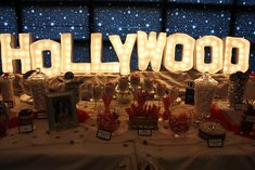 52 Ideas For Party Ideas Sweet 16 Hollywood Theme Hollywood Glamour Party, Hollywood Sweet 16, Hollywood Lights, Hollywood Photo, Hollywood Sign, Hollywood Birthday Parties, Hollywood Theme Party Food, Hollywood Party Decorations, Sweet 16 Themes
