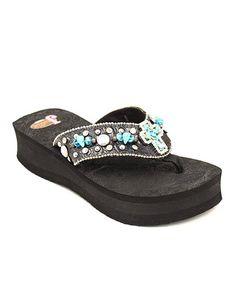 9471f78a15f261 Justin Boots Black Carly Platform Flip-Flop - Women