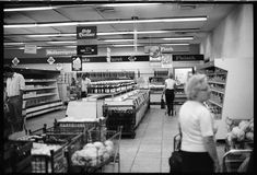 """""""In der Kaufhalle"""" - literally """"in the shopping hall"""", an expression that survived to this date in East Germany."""