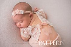 PATTERN Newborn Lydia 2-Piece Outfit by PropsByPosies on Etsy