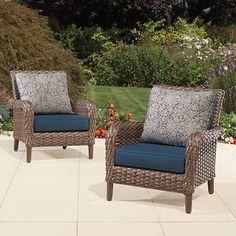 brown jordan accent chair 2pack