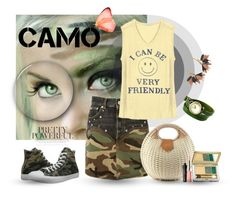 """The Camo"" by linkfari ❤ liked on Polyvore featuring Yves Saint Laurent, Junk Food Clothing, Marni, Converse, Estée Lauder, Benefit and camostyle"