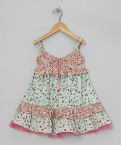Take a look at this Pink & Mint Drawstring Swing Dress - Toddler & Girls by Ma Petite Amie on #zulily today!