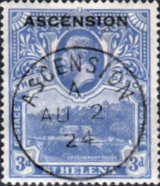Ascension Islands Stamps 1922 King George Overprints SG 5 Fine Used Scott 5 Other Ascension Island Stamps HERE