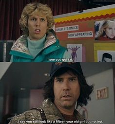 Blades of Glory. One of the best lines in the movie. Tv Quotes, Movie Quotes, Funny Quotes, Funny Movies, Great Movies, Funniest Movies, Funny Movie Lines, 90s Movies, Awesome Movies