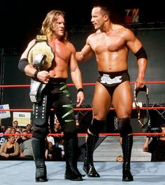 Chris Jericho and The Rock.