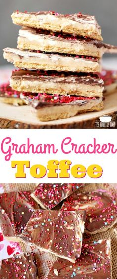 Marbled Valentine's Day Graham Cracker Toffee recipe from The Country Cook #recipes #ValentinesDay #gifts #teachers #easy #chocolate