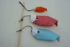 Origami Carp Kite for Boys Day New Year's Crafts, Fun Crafts To Do, Holiday Crafts, Crafts For Kids, Paper Crafts, Asian Crafts, Chinese New Year Crafts, Origami Shapes, Origami Fish