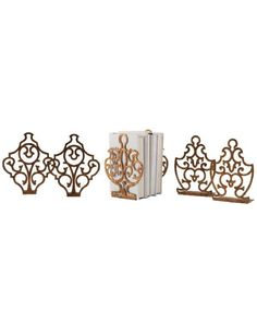 Set of Crest, Urn and Shield Bookends