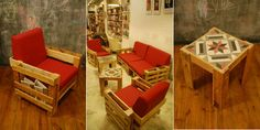 DIY Pallet Idea - Sofa, Table & Chair