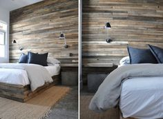 Muros revestidos en madera como cabeceras!!