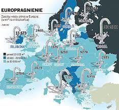 zużycie wody w Europie