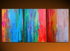 Large Original Modern Abstract Painting by SavarinoArt on Etsy, $695.00