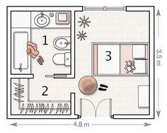 Dormitorios: Fotos de dormitorios Imágenes de habitaciones y recámaras, Diseño y Decoración: PLANOS DE DORMITORIO