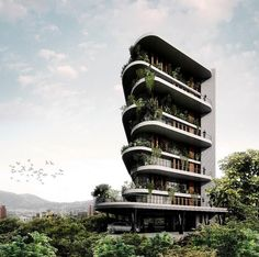 MEDELLÍN l Guía General de Proyectos - Page 546 - SkyscraperCity Architecture Building Design, Architecture Visualization, Green Architecture, Building Facade, Facade Design, Concept Architecture, Futuristic Architecture, Beautiful Architecture, Residential Architecture