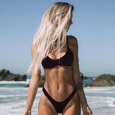 Minimalism Le Sexy Micro Bikini Set 2020 Solid Swimwear Brazilian Bikinis Thong Beach Wear Woman Swimsuit Bathing Suit biquini - XL Source by CreativeDreamscape wear for women Sexy Bikini, Brasilianischer Bikini, Crop Top Bikini, Bikini Girls, Bikini Bottoms, Girls In Bikinis, Mini Bikini, Bralette Bikini, Bikini Babes