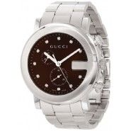 Gucci Unisex G-Chrono Signature Brown Diamonds Markers Dial Watch Gucci Watches For Men, Mens Watch Brands, Buy Gucci, Gucci Gucci, Watch Model, Unisex, Watch Sale, Stainless Steel Watch, Modern Jewelry