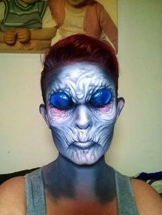 self taught artist paints terrifying monsters on faces scary halloween - Scary Face Paint Ideas For Halloween
