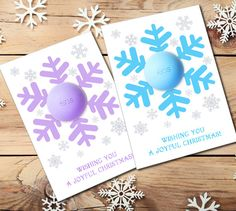 DIY Christmas Gift EOS lip balm - Snowflake Card Template for Blueberry acai, Sweet Mint, Passion fruit eos lip balms.  ❤ HOW IT WORKS? ❤ This is