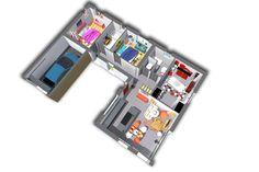 L'intérieur de la maison reste le même que pour le modèle Family. Seul le garage acollé change.