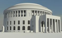 3D Architecture plans of Manchester Central Library