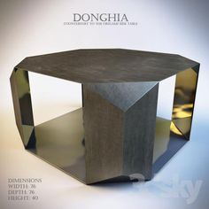 DONGHIA Counterpart to the Origami side table