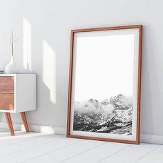 b490c22f016 Mountains Downloadable Prints Art Printable Print Modern Minimalist Black  and White Wall Decor Photography Poster Travel Nature Digital