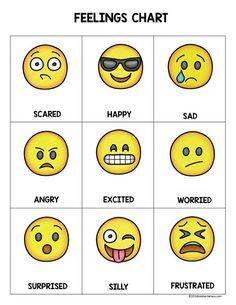 Memorable Emoji Face Chart Feeling Face Chart Smiley Face Feeling Chart Feelings Chart For Preschoolers Feelings Chart For Toddlers Feelings Chart For Kids Pdf Feelings Preschool, Emotions Activities, Preschool Activities, Teaching Emotions, Manners Preschool, Teaching Respect, Feelings Chart, Feelings And Emotions, Emotions Cards