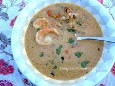 Sopa+de+Camarones,+Coco+y+Plátano+(Shrimp,+Coconut+and+Plantain+Soup)