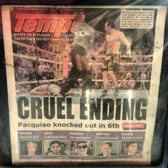 負けちゃった。 #マニーパッキャオ#ボクシング#ボクサー#フィリピン#manypacquiao #boxing#boxer#philippines
