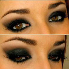 dark eye makeup... @Alaina Porcellini this is how I want to do my makeup for FOB!