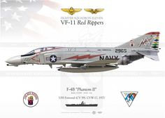 """VF-11 """"Red Rippers"""", USS Forrestal."""
