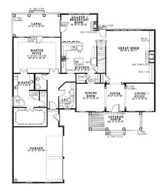 Coastal Colonial House Plan 61024 Level One