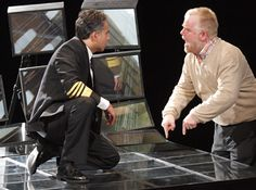 Philip Seymour Hoffmann and John Oritz in Othello. Skirball Center at NYU, NY.