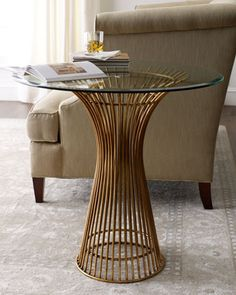 Brass Side Table - Horchow