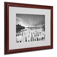 "Trademark Art ""Palimpsest"" by Geoffrey Ansel Agrons Matted Framed Photographic Print Size: 16"" H x 20"" W x 0.5"" D, Frame: Brown - Beveled"