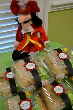 Peter Pan party - cute idea for sandwiches!