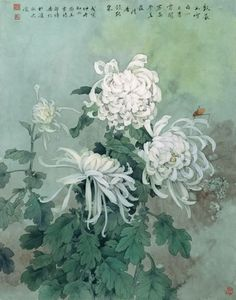 chrysanthemums, Chinese painting