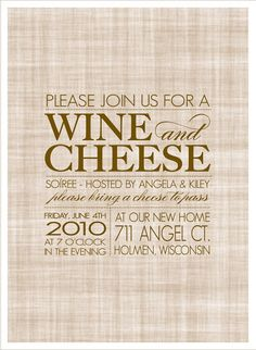 wineglass and grapes wine tasting party invitation  wine party, party invitations