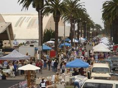 Best Flea Markets In The Los Angeles Area.  Pictured is Ventura, California
