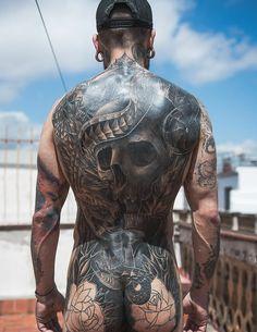 Tattoo or chastity belt? True Tattoo, Back Tattoo, Dream Tattoos, Badass Tattoos, Skull Tattoos, Body Art Tattoos, Tatoos Men, Tribal Tattoos, Wolf Sketch Tattoo